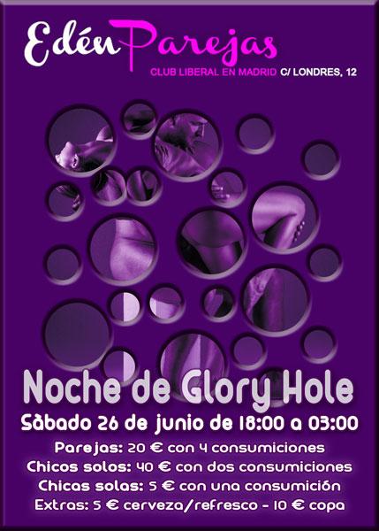 Fiesta swinger, Sábado sabadete... Glory Hole