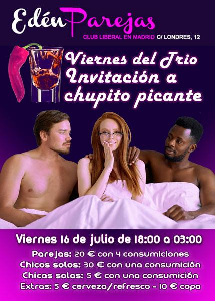 VIERNES DE TRIO - INVITACIÓN A CHUPITO PICANTE